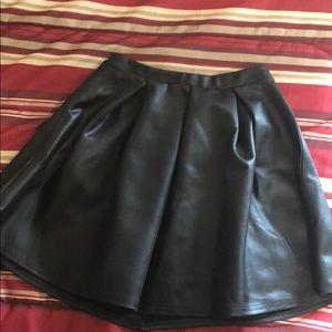 Black Flared Mini Skirt (Gently worn)